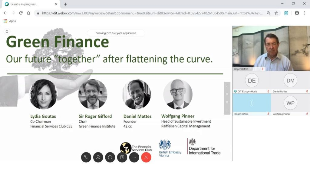Green Finance – Our future together after flattening the curve